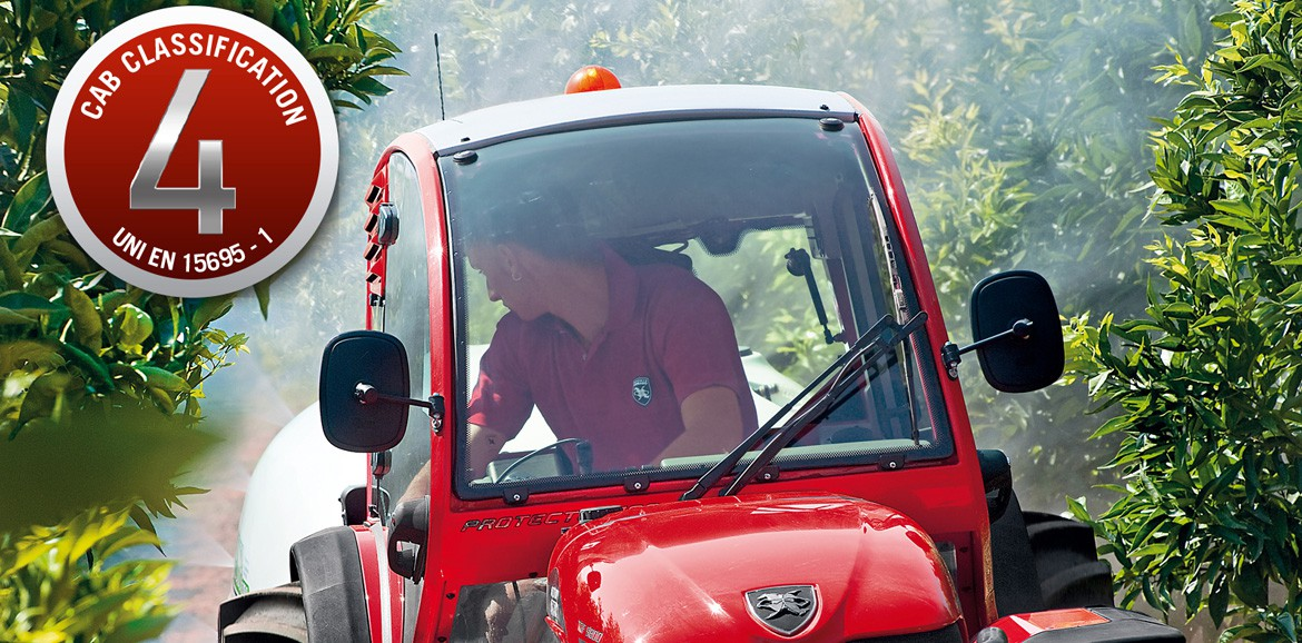 Antonio Carraro | Protector, super low profile cab for TGF tractor with cat.4  pressurization