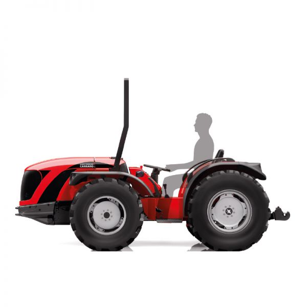 Antonio Carraro TGF Ergit S, one-direction tractor with differentiated steering wheels.