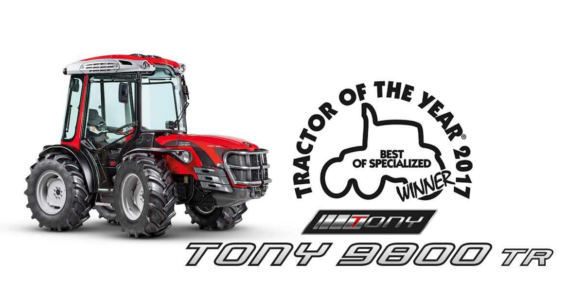 Antonio Carraro Tony is the winner of the Tractor of the Year 2017 - Best of Specialized award