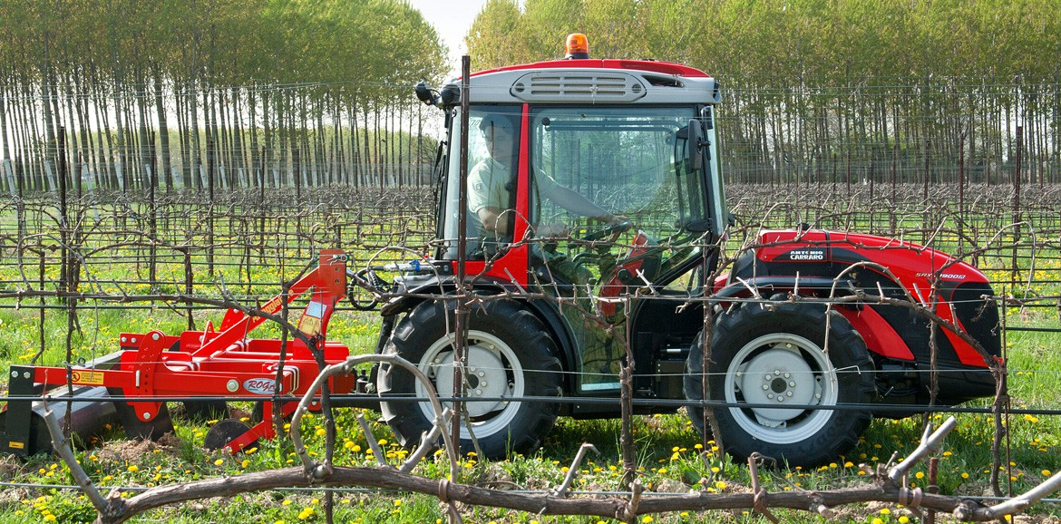 Antonio Carraro, vineyard tractors: SRX 10900 R, isodiametric, articulated, reversible