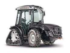Antonio Carraro, tractors. Mach 2 R, reversible tractor with rear rubber tracks and front 20-inches tyres